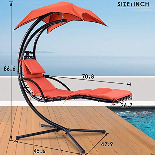 outdoor patio lounge chair with canopy