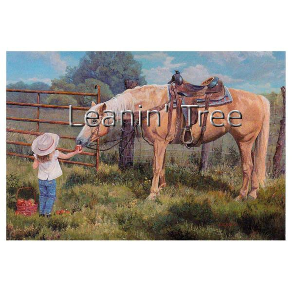 Leanin Tree An Apple A Day Horse Thank You Greeting Card