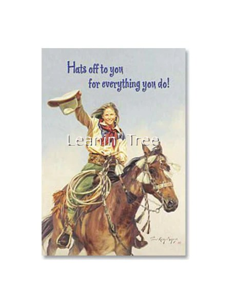 Leanin Tree Hats Off To You Thank You Card 19961