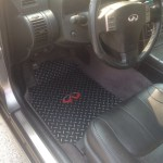 Infiniti G35 03 06 Sedan Black Diamond Plate Metal Floor Mats Front Diamond Mats