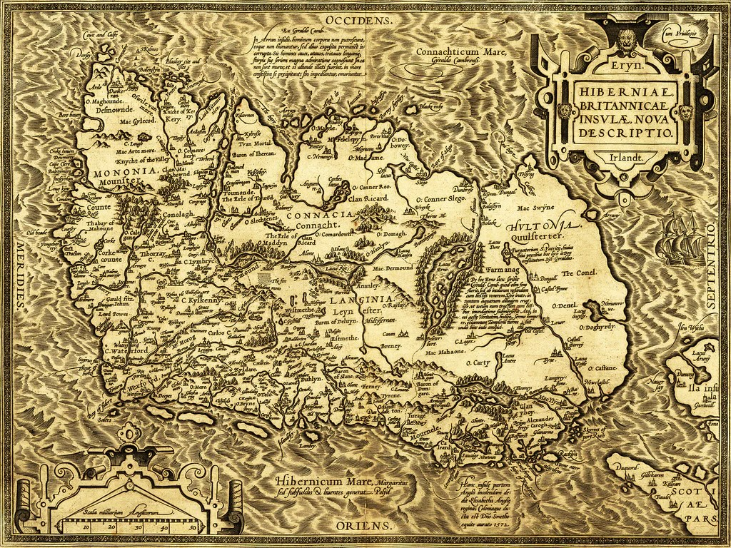 Map of Ireland in 1573     Historia Posters     Map of Ireland in 1573   Historia Posters
