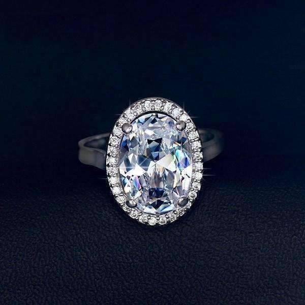 ON SALE Celebrity 6 Carat Oval Engagement Ring In
