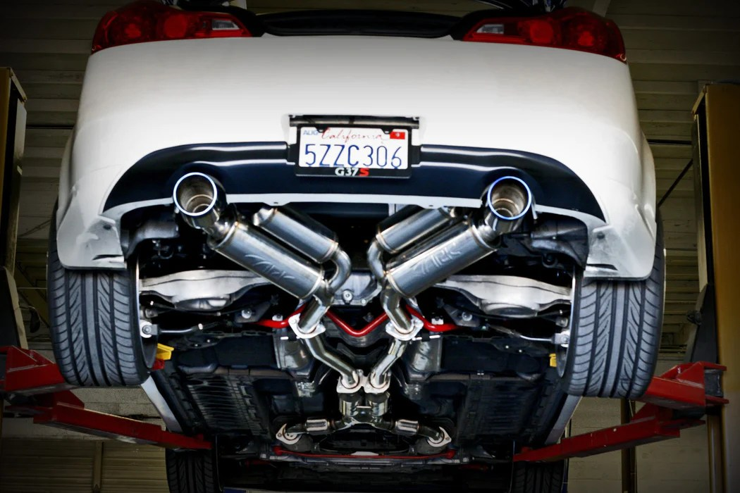 ark performance grip exhaust system burnt tips infiniti g37x q60 coupe awd 08 15