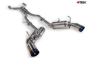 ark performance sm1101 0103g grip true dual exhaust system burnt tip infiniti g35 coupe 2003 2006
