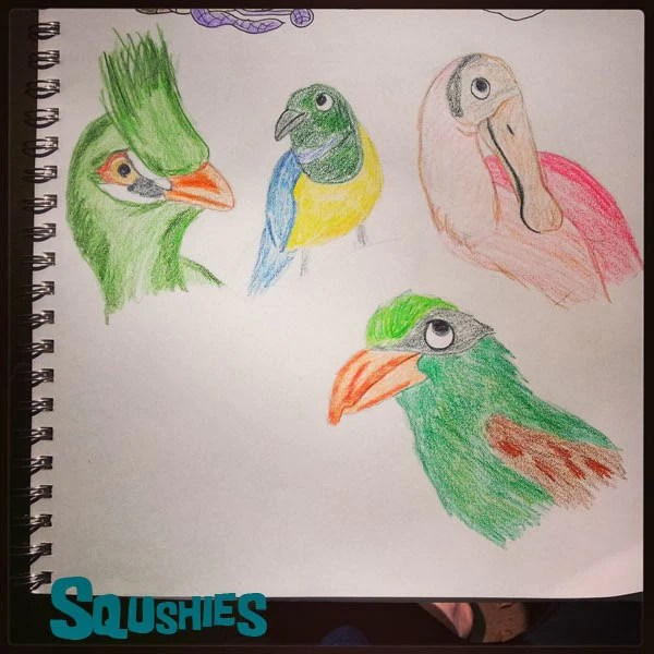 Daily Zoodle Monthly Animal Doodle Challenge Squshies