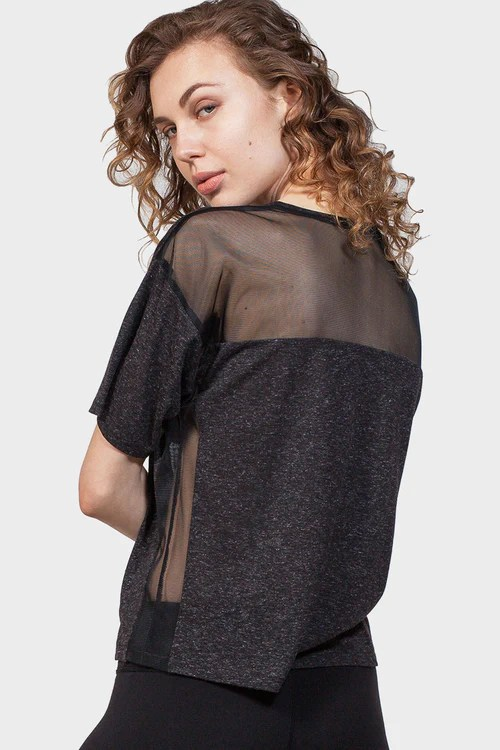 337 Brand - 9% OFF BACK MESH YOKE TOP (WAS:$ 65.00   NOW:$ 59.00)