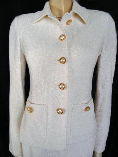 Gorgeous St John Knit Suit Wedding Suit Fancy Gold