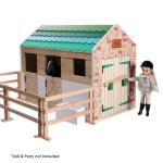Toy Horse Stable Wooden Stables Lottie Dolls