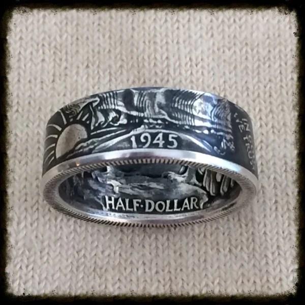 1935 1947 Walking Liberty Half Dollar Coin Ring Sizes 8