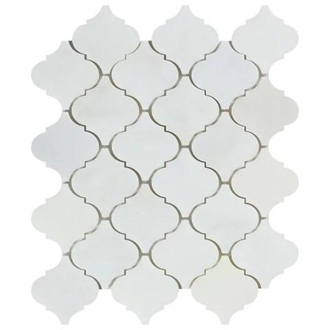 oriental white asian statuary marble polished lantern arabesque mosaic tile