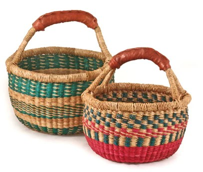 Childrens African Mini Market Basket SHOP NECTAR