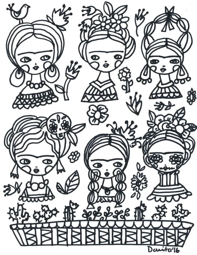 Coloring with Frida! – Danita Art