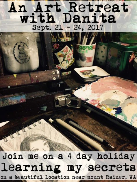 Danita Art Workshop Live Classes Dollmaking Doll Making Mixed Media Painting Tutorial How To