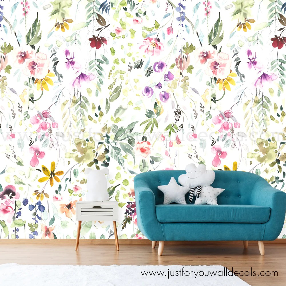 Floral Nursery Wallpaper Removable Wallpaper Wall Decals Removable Wallpaper Wall Murals Just For You Decals