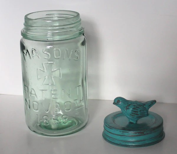 Glory Amp Grace Rustic French Garden Aqua Bird Collection Mason Jar Stor