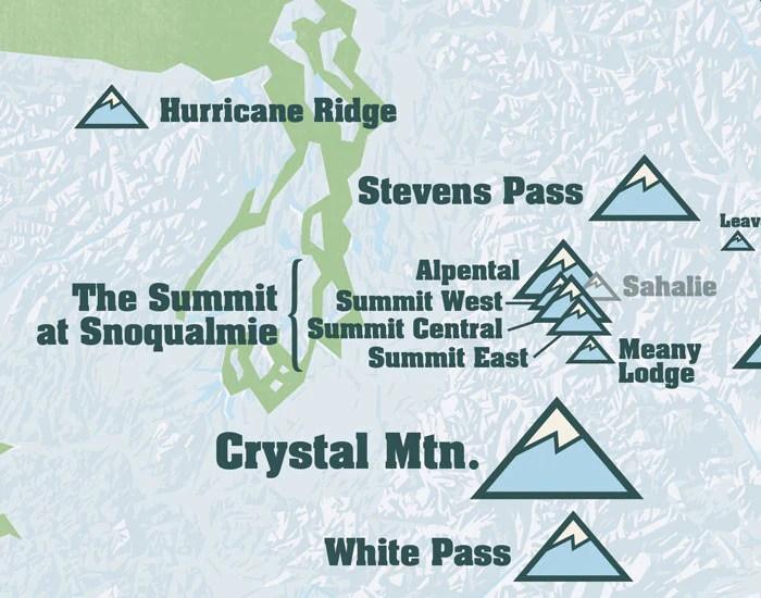 Map Ski Dc Washington Near Resorts