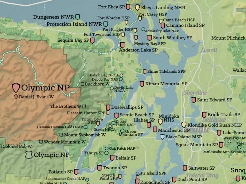 washington state national parks map » ..:: Edi Maps ::.. | Full HD Maps