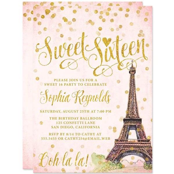 Paris Bridal Shower Invitations