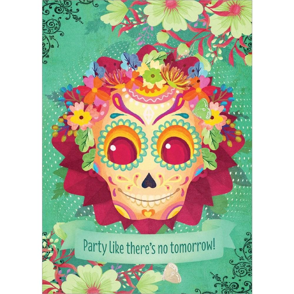 Sugar Skull Birthday Card Sunnyside Gifts
