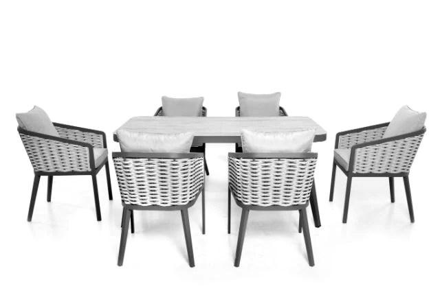 portofino 6 seat rectangular dining set by maze rattan