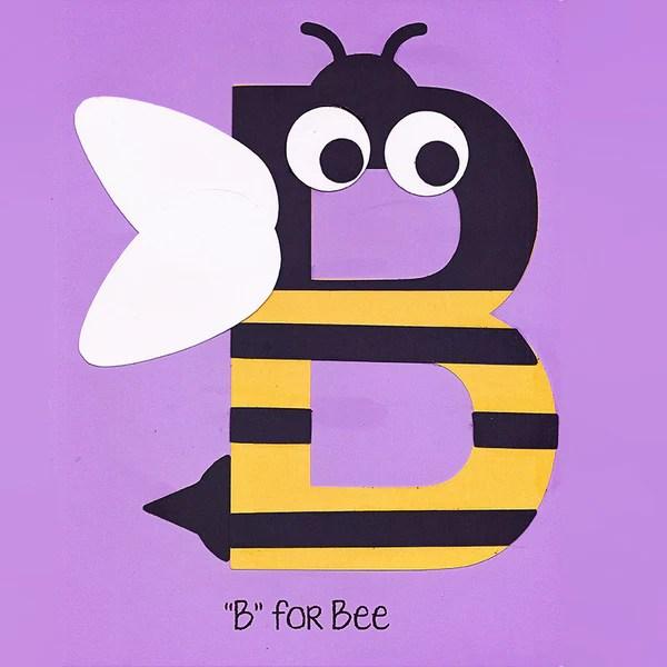 Alphabet Art Template Upper B Bee Who Arted