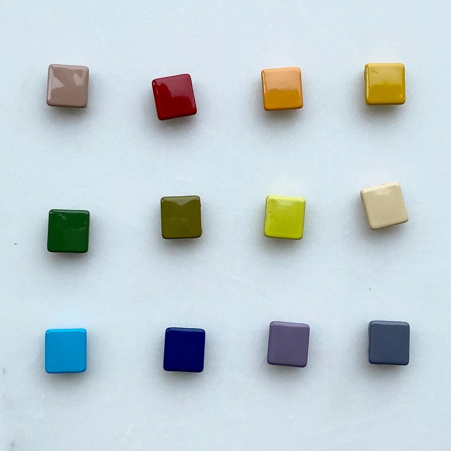 square enamel tile beads