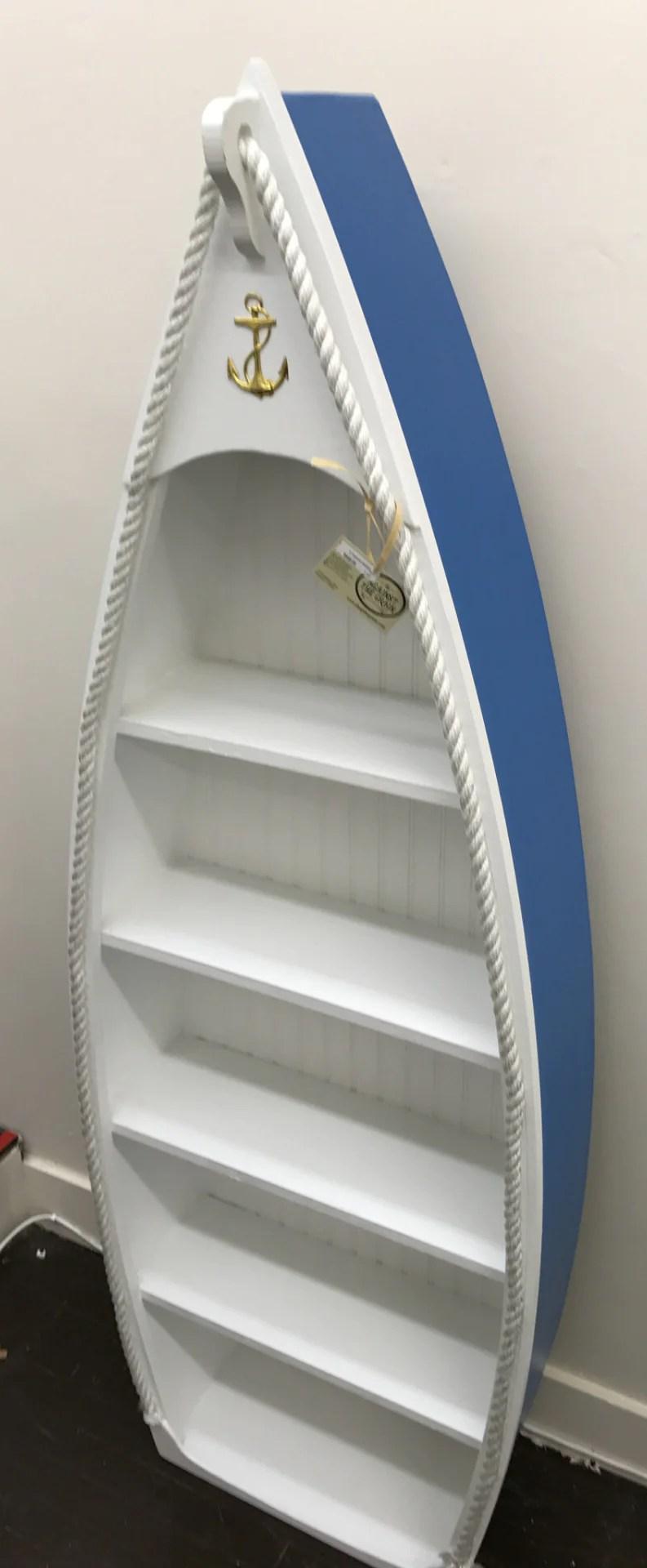 Rowboat Book Shelf Against The Grain