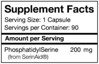 Phosphatidylserine supplement facts