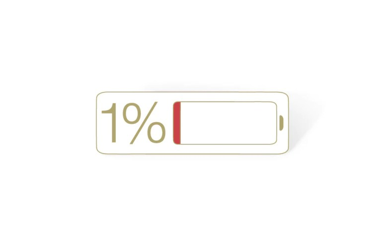 The 1% Battery Pin | Designed by Ruined Rep