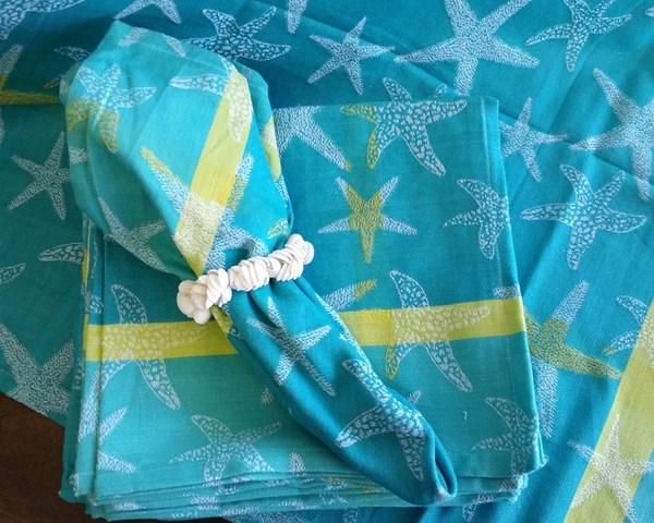 Starfish Turquoise 22 Quot Napkin Woven Cotton Napkin Beach