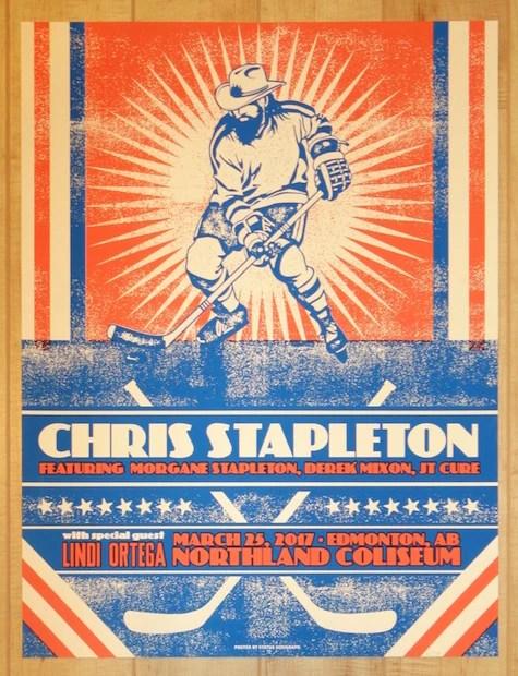 edmonton silkscreen concert poster by