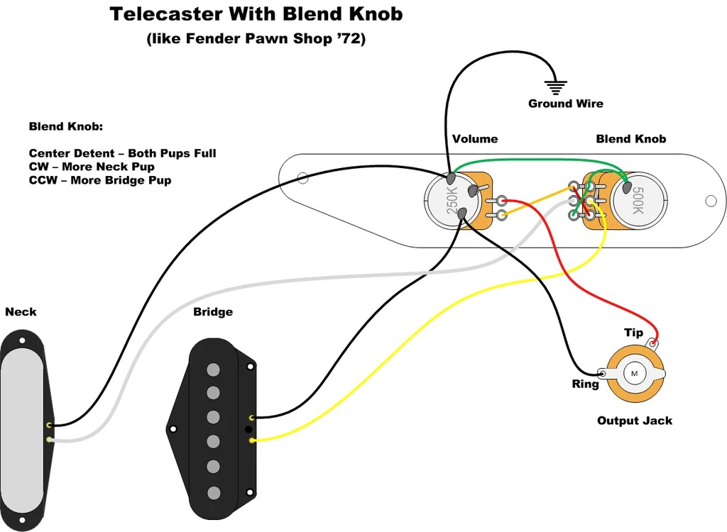 Telecaster Wiring Diagram For Blend  Auto Electrical