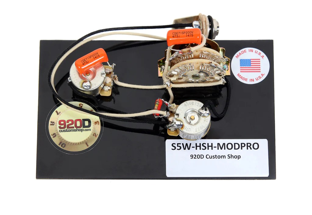 920D Custom S5WHSHMODPRO Suhr Modern Pro Style Wiring Harness for HS – Sigler Music
