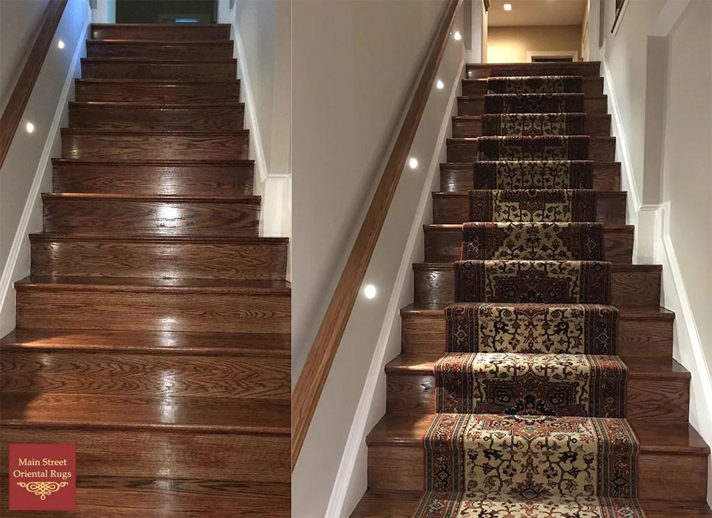 Serapi Stair Runner Installation Main Street Oriental Rugs