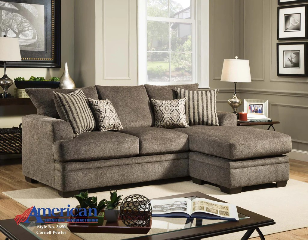 Austin Furniture Stores   Furniture Stores in Austin     Austin s     Cornell Pewter Sofa With Chaise