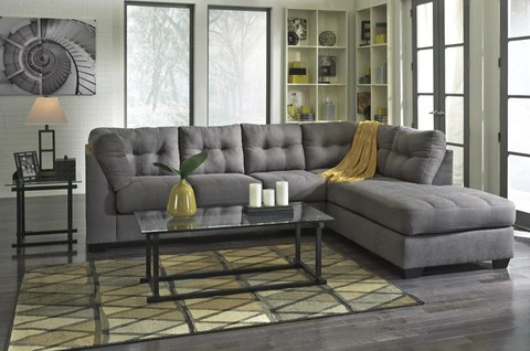 Maier Charcoal Sectional     Austin s Furniture Outlet Maier Charcoal Sectional