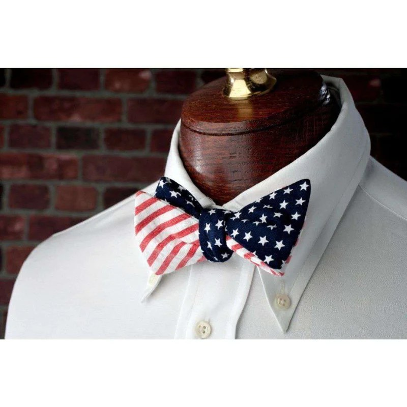 High Cotton Stars Amp Stripes Reversible Bow Tie In Red