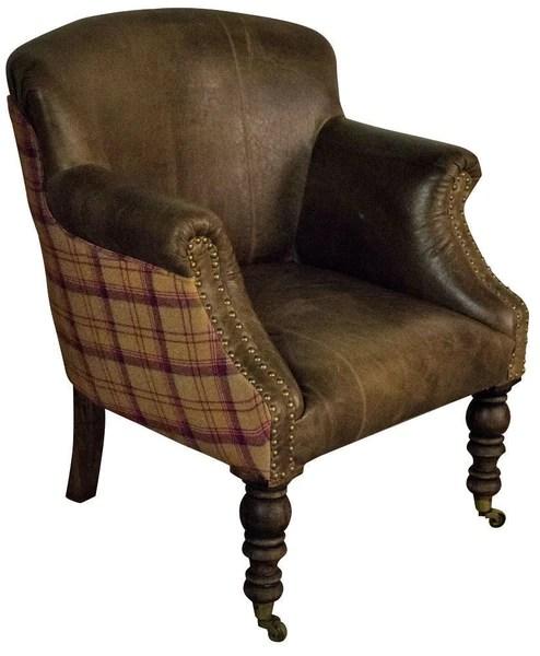 Armchair And Tartan Leather