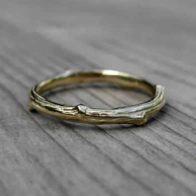 YELLOW GOLD TWIG BAND