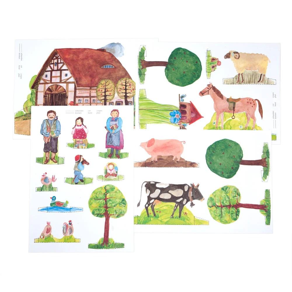 Paper Doll Farmhouse Nova Natural Toys Amp Crafts