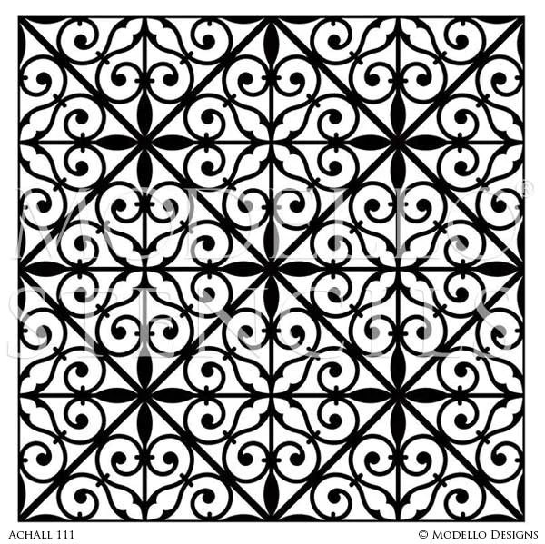 Decorative Painting With Large Allover Wall Stencils Modello Designs Custom Stencils