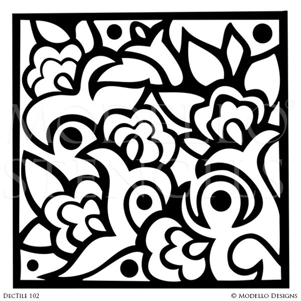 tile stencils modello designs