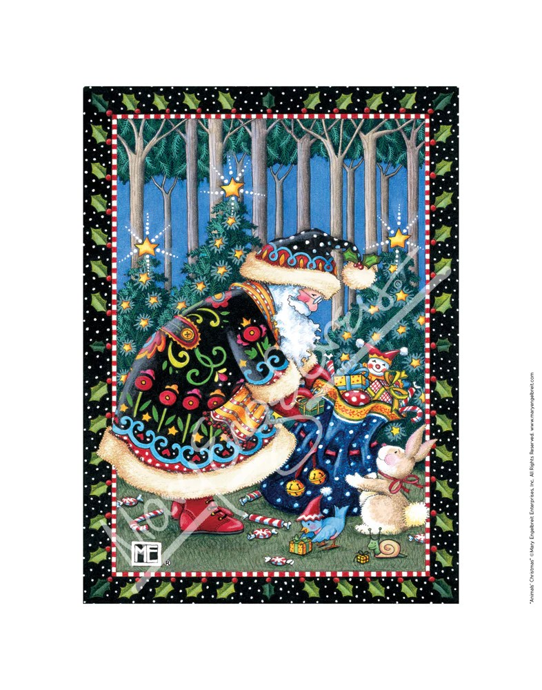 Animals Christmas Fine Print Mary Engelbreit