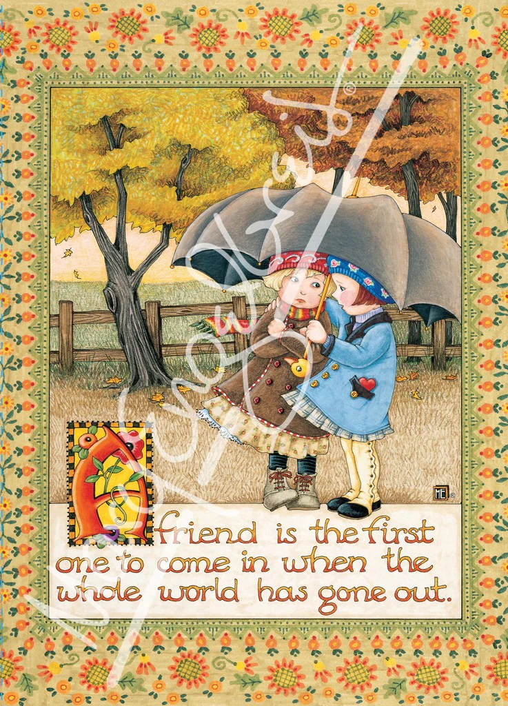 Friend Is First Greeting Card Mary Engelbreit