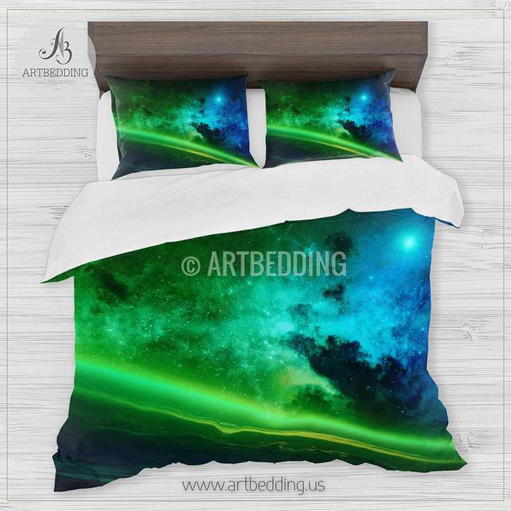 Earth From Space Bedding Space Bedding Set Blue And