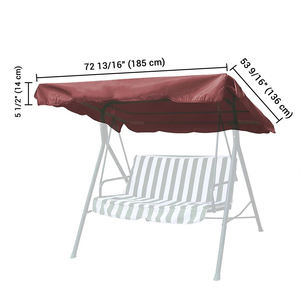 yescom patio porch replacement swing canopy 72 x53