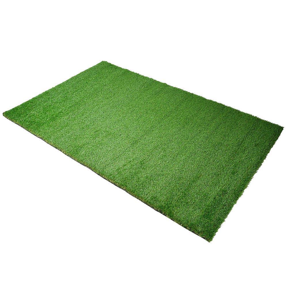 yescom artificial grass turf fake carpet mat drainage patio 4 x6 3 5