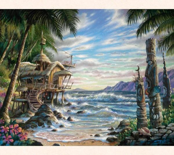 Cove Of Wonders Fantasy Art Matted Print Thor Art