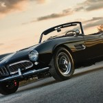 Bmw 507 Retro Vintage Old Car Auto Poster Sunset My Hot Posters