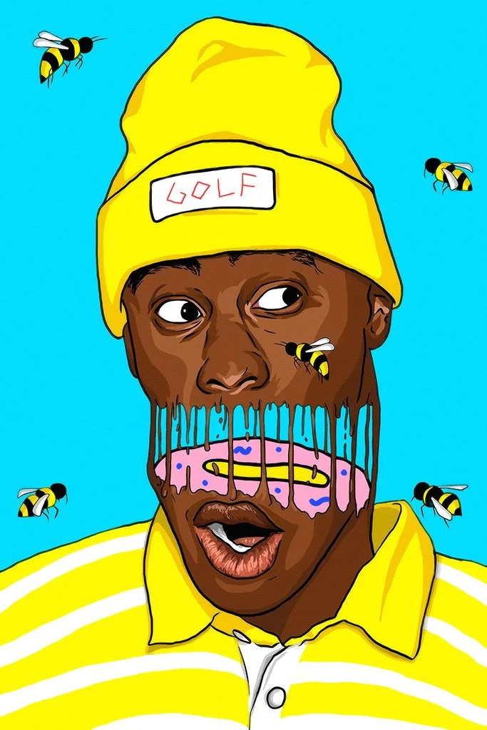 tyler the creator bees art poster